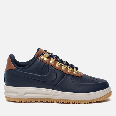 Мужские кроссовки Nike Lunar Force 1 Duckboot Low Obsidian/Saddle Brown/Light Bone
