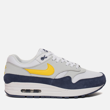 Мужские кроссовки Nike Air Max 1 White/Tour Yellow/Blue
