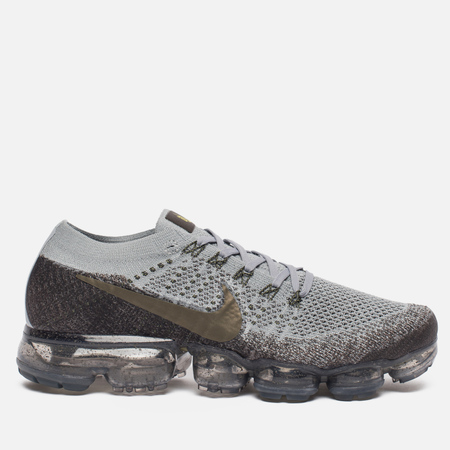 Мужские кроссовки Nike NikeLab Air Vapormax Flyknit Midnight Fog/Wolf Grey/Sonic Yellow/Medium Olive