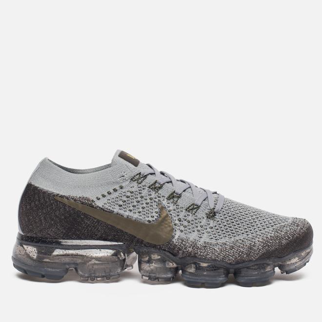 Мужские кроссовки Nike NikeLab Air Vapormax Flyknit Midnight Fog/Wolf Grey/Sonic Yellow/Medium Olive