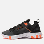 Мужские кроссовки Nike React Element 55 Black/Wolf Grey/Total Orange/White фото- 2