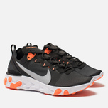 Мужские кроссовки Nike React Element 55 Black/Wolf Grey/Total Orange/White фото- 1