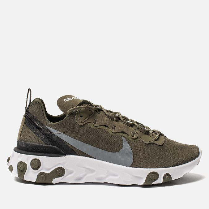 Мужские кроссовки Nike React Element 55 Medium Olive/Cool Grey/Black