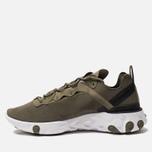 Мужские кроссовки Nike React Element 55 Medium Olive/Cool Grey/Black фото- 1