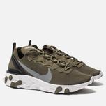 Мужские кроссовки Nike React Element 55 Medium Olive/Cool Grey/Black фото- 2
