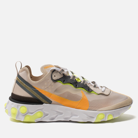 Мужские кроссовки Nike React Element 87 Light Orewood Brown/Laser Orange/Volt Glow