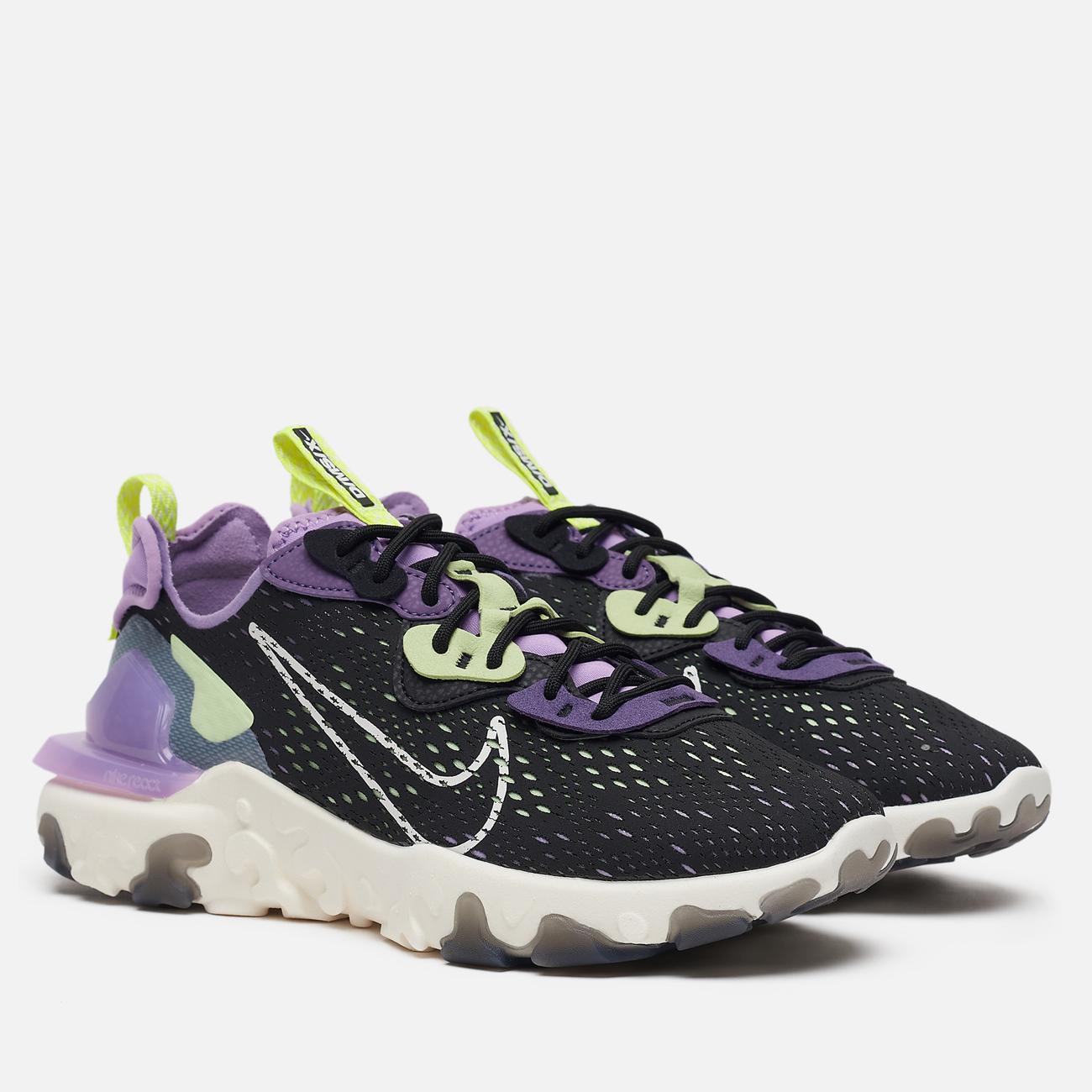 Мужские кроссовки Nike React Vision Black/Sail/Dark Smoke Grey/Gravity Purple