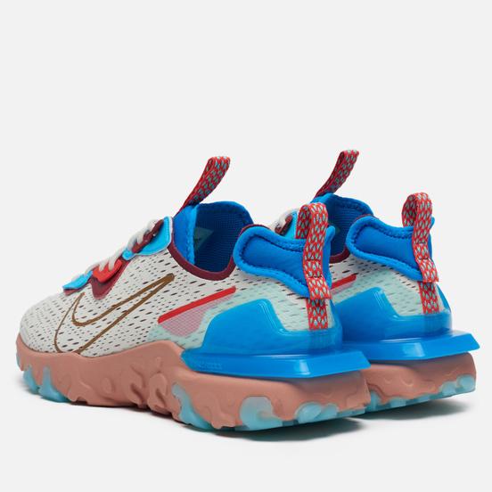 Мужские кроссовки Nike React Vision Light Bone/Terra Blush/Photo Blue