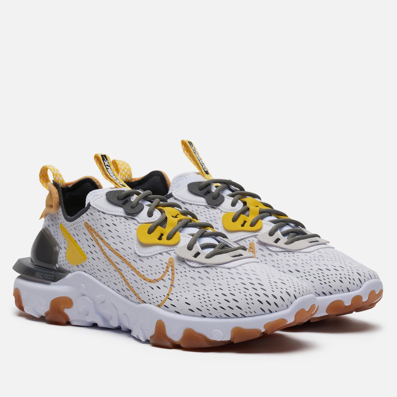 Мужские кроссовки Nike React Vision White/Honeycomb/Iron Grey/Vast Grey