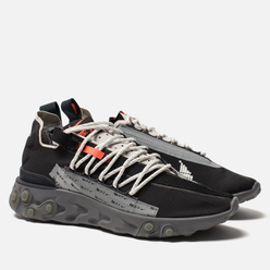 Мужские кроссовки Nike React WR ISPA Black/Metallic Silver/Gunsmoke