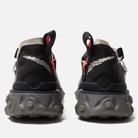 Мужские кроссовки Nike React WR ISPA Black/Metallic Silver/Gunsmoke