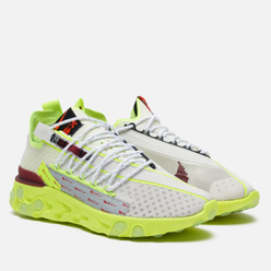 Мужские кроссовки Nike React WR ISPA Platinum Tint/Team Red/Volt Glow