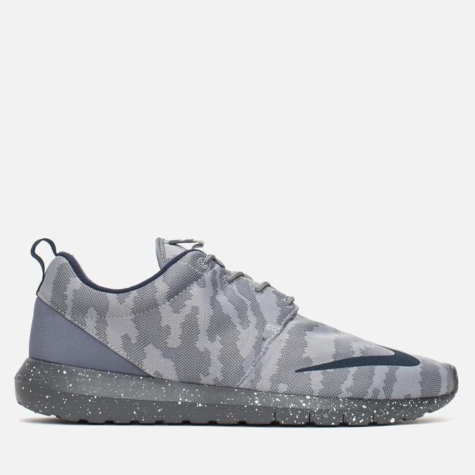 Мужские кроссовки Nike Roshe NM FB Flat Silver/Obsidian/Dark Grey