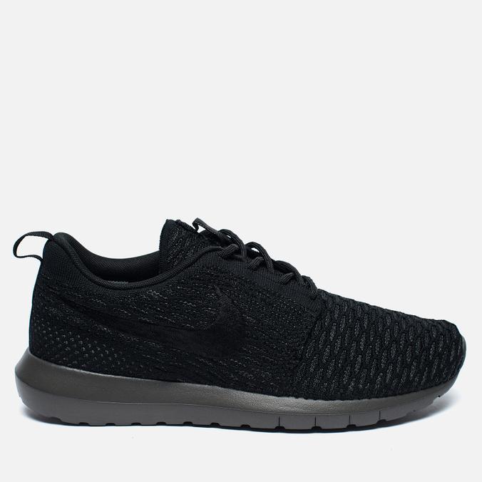 Мужские кроссовки Nike Roshe NM Flyknit Black/Midnight Fog