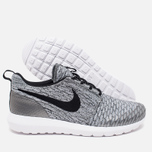 Мужские кроссовки Nike Roshe NM Flyknit SE Wolf Grey/Black/White фото- 2