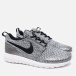 Мужские кроссовки Nike Roshe NM Flyknit SE Wolf Grey/Black/White фото- 1