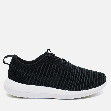 Мужские кроссовки Nike Roshe Two Flyknit Black/White