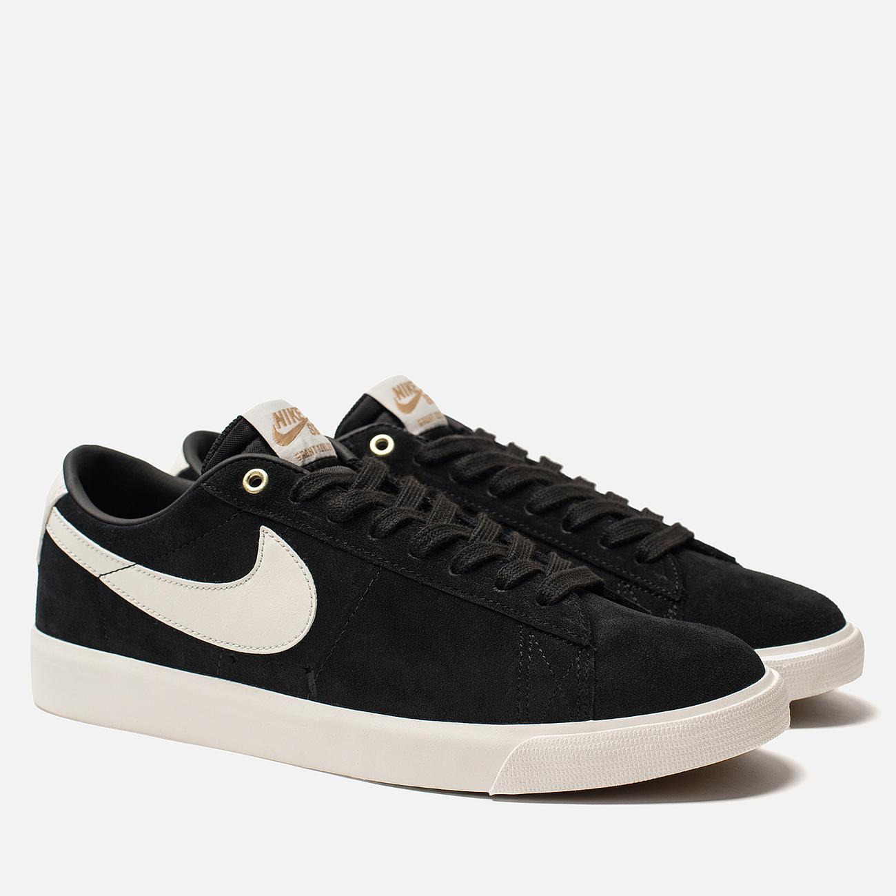 Мужские кроссовки Nike SB Blazer Low GT Black Sail/White