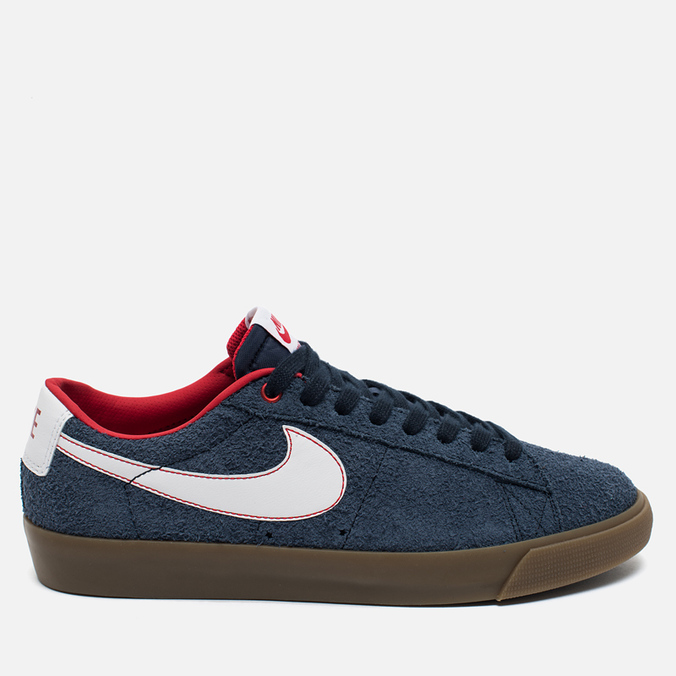 Мужские кроссовки Nike SB Blazer Low GT Obsidian/University Red/White
