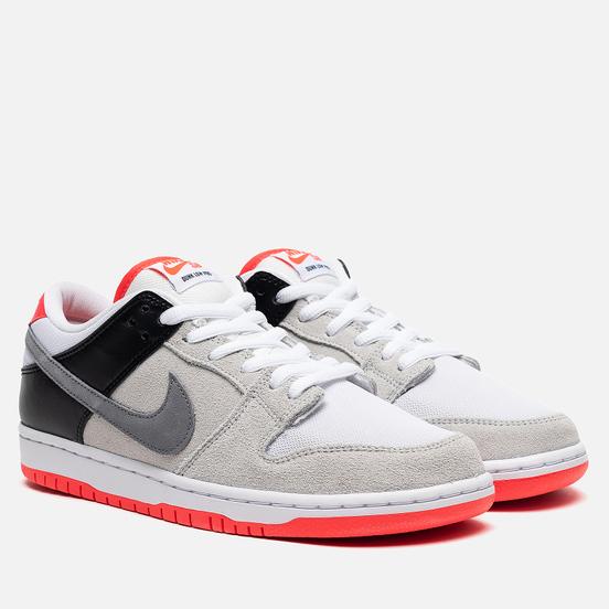 Мужские кроссовки Nike SB Dunk Low Pro ISO Neutral Grey/Cool Grey/Black/Infrared