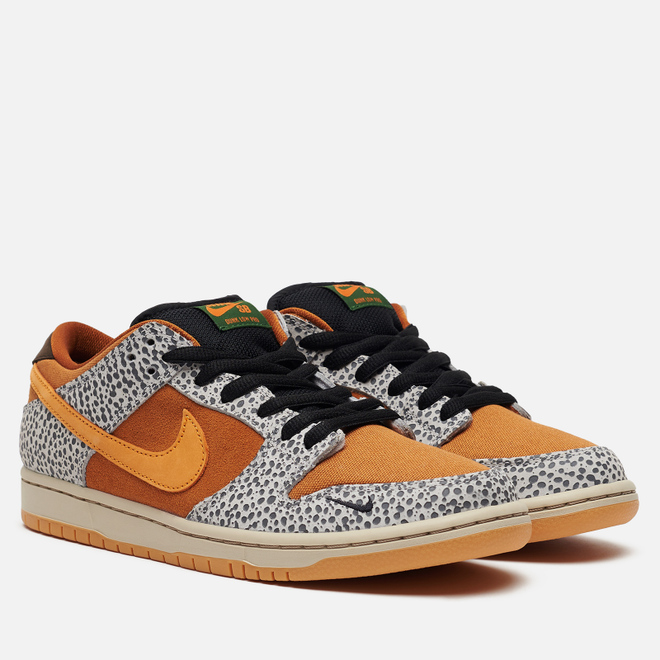 Мужские кроссовки Nike SB Dunk Low Pro ISO Safari Neutral Grey/Kumquat/Desert Ochre