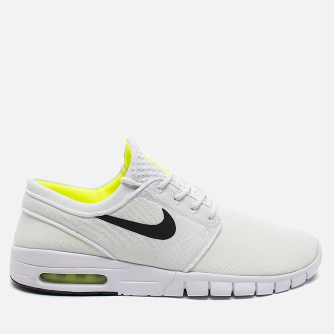 Мужские кроссовки Nike SB Stefan Janoski Max White/Black Volt