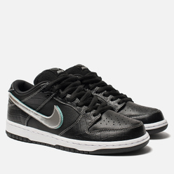 Мужские кроссовки Nike SB x Diamond Supply Co Dunk Low Pro OG QS Black/Chrome/Black/Tropical Twist