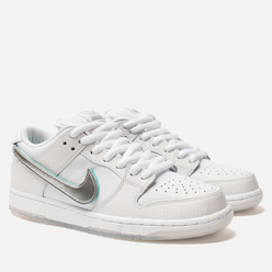 Мужские кроссовки Nike SB x Diamond Supply Co Dunk Low Pro OG QS White/Chrome/Black/Tropical Twist