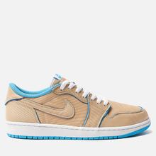 Мужские кроссовки Nike SB x Jordan Air Jordan 1 Low QS Desert Ore/Royal Blue/Dark Powder Blue фото- 3