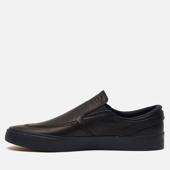 Мужские кроссовки Nike SB x Leo Baker Stefan Janoski Slip On ISO Black/Gum Light Brown