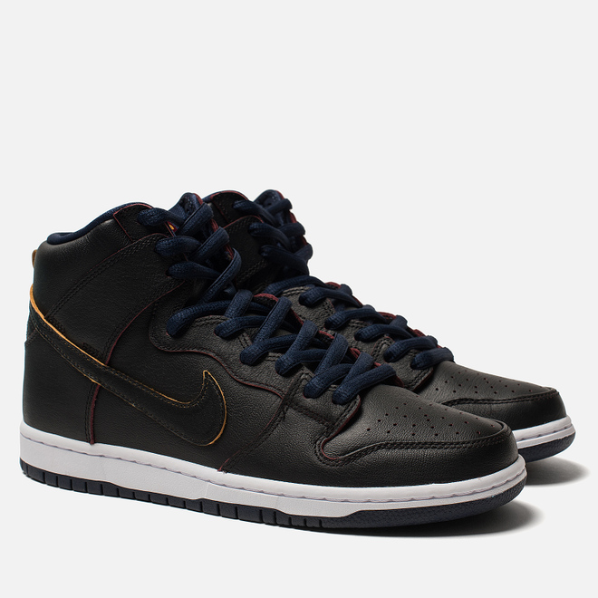 Мужские кроссовки Nike SB x NBA Dunk High Pro Black/Black/College Navy/Team Red