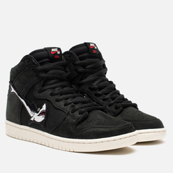 Мужские кроссовки Nike SB x OSKi Dunk High Pro ISO Black/White/Black/Sail