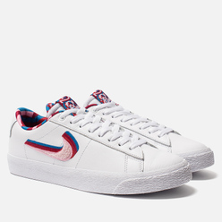 Мужские кроссовки Nike SB x Parra Blazer GT QS White/Pink Rise/Gym Red/Military Blue