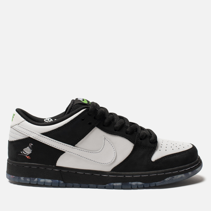 Мужские кроссовки Nike SB x Staple Panda Pigeon Dunk Low Pro OG QS Black/White/Green Gusto