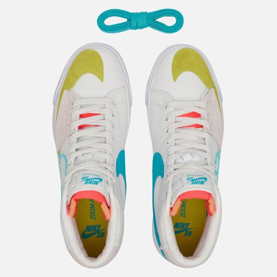 Мужские кроссовки Nike SB Zoom Blazer Mid Edge Summit White/Oracle Aqua/Summit White