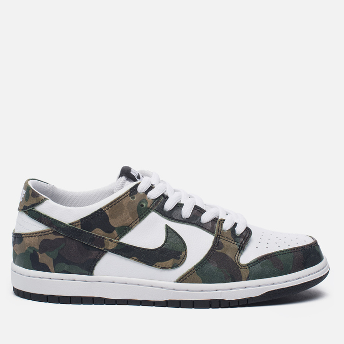Мужские кроссовки Nike SB Zoom Dunk Low Pro Camo Legion Green/White/Black