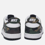 Мужские кроссовки Nike SB Zoom Dunk Low Pro Camo Legion Green/White/Black фото- 4