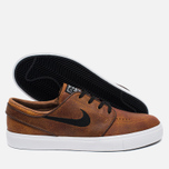 Мужские кроссовки Nike SB Zoom Stefan Janoski Elite Ale Brown/White/Black фото- 2