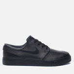 Мужские кроссовки Nike SB Zoom Stefan Janoski Leather Black/Black/Anthracite/Black фото- 0