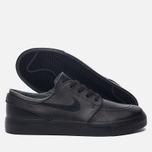 Мужские кроссовки Nike SB Zoom Stefan Janoski Leather Black/Black/Anthracite/Black фото- 1