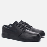 Мужские кроссовки Nike SB Zoom Stefan Janoski Leather Black/Black/Anthracite/Black фото- 2