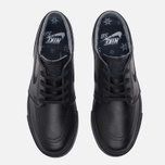 Мужские кроссовки Nike SB Zoom Stefan Janoski Leather Black/Black/Anthracite/Black фото- 3