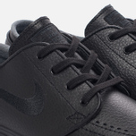 Мужские кроссовки Nike SB Zoom Stefan Janoski Leather Black/Black/Anthracite/Black фото- 4