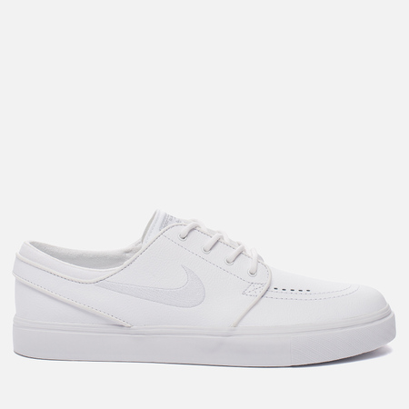 Мужские кроссовки Nike SB Zoom Stefan Janoski Leather White/White/Wolf Grey