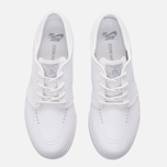 Мужские кроссовки Nike SB Zoom Stefan Janoski Leather White/White/Wolf Grey фото- 3