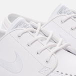 Мужские кроссовки Nike SB Zoom Stefan Janoski Leather White/White/Wolf Grey фото- 4
