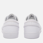 Мужские кроссовки Nike SB Zoom Stefan Janoski Leather White/White/Wolf Grey фото- 5