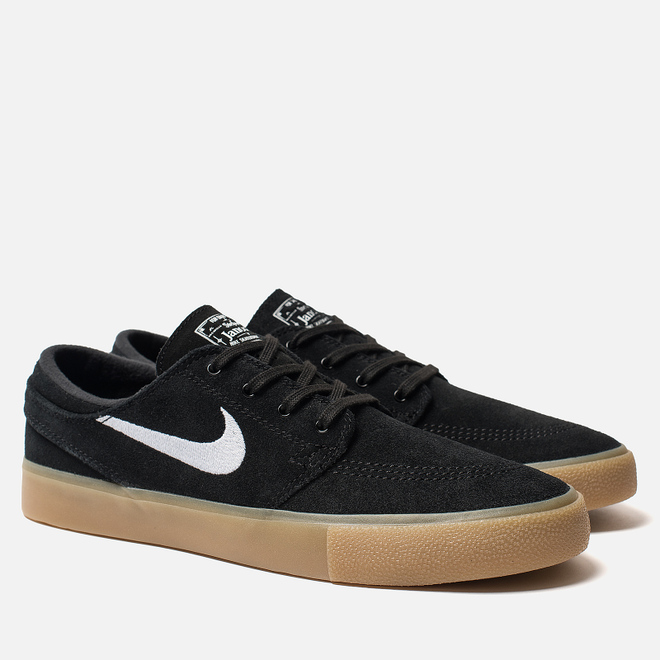 Мужские кроссовки Nike SB Zoom Stefan Janoski Rm Black/White/Black/Gum Light Brown