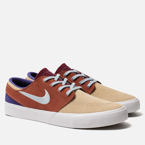 Мужские кроссовки Nike SB Zoom Stefan Janoski Rm Desert Ore/Light Armory Blue/Dusty Peach
