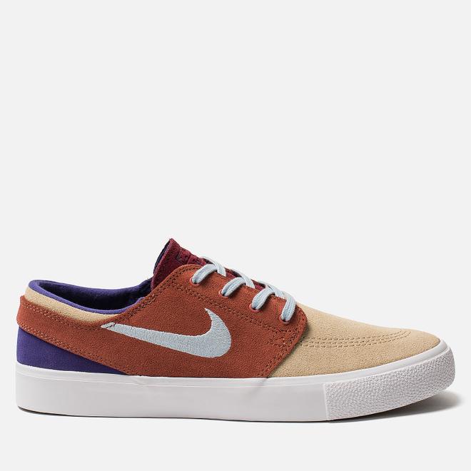 Мужские кроссовки Nike SB Zoom Stefan Janoski RM Desert Ore/Light Armory Blue/Dusty Peach